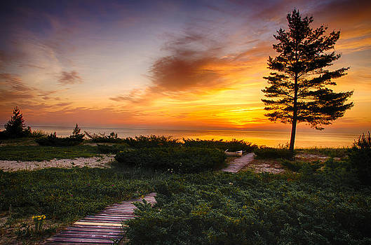 Michigan Summer Sunrise by Christopher L Nelson