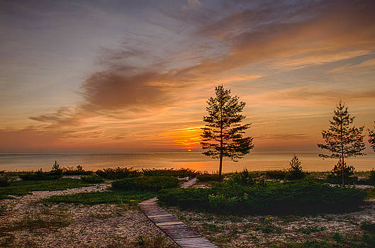 Michigan Sunrise by Christopher L Nelson