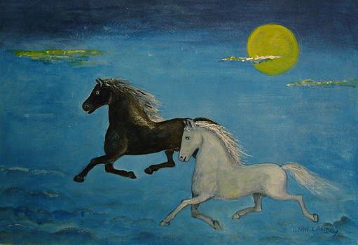 Black and White Horses by Joan Landry
