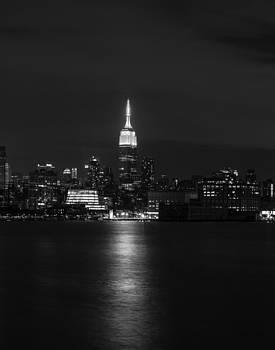 Midtown Manhattan Skyline Triptych Middle by David Morefield