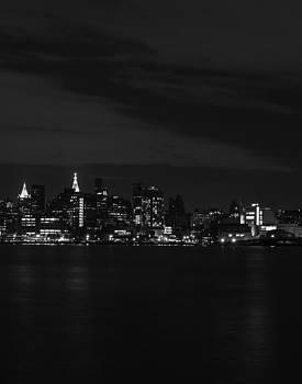 Midtown Manhattan Skyline Triptych Right by David Morefield