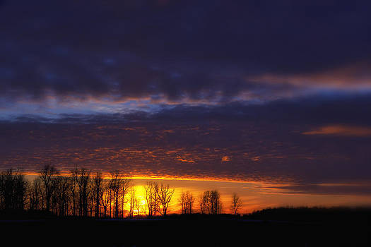 Midwest Sunset in central Inidiana by Michael Huddleston