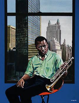 Miles High - Miles Davis by Jo King