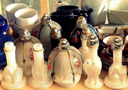 Milk Glass Perfume Bottles by Fethi Canbaz