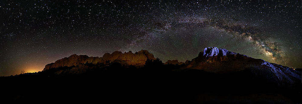 Milky Way Badlands Panoramic by Jennifer Brindley