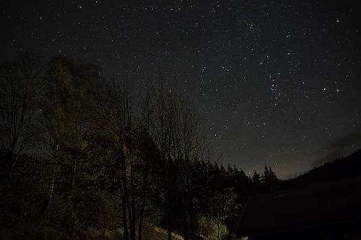 Milky way in Vosges mountain in France by Patrick Kessler