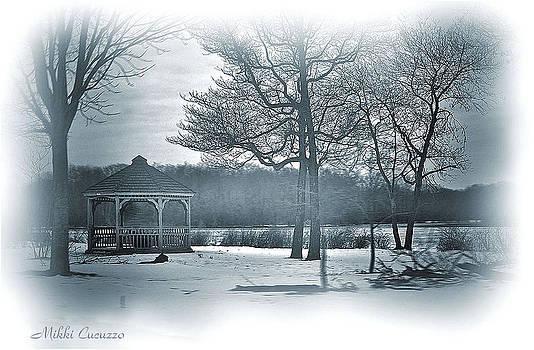 Mill Pond in winter by Mikki Cucuzzo