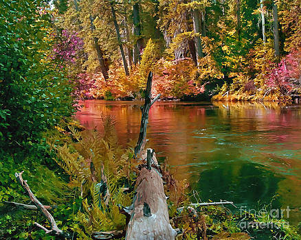 Peter Piatt - Millers Creek in the Fall Painterly