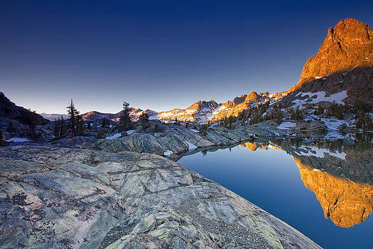 Minaret Lake Sunrise 3. by Laszlo Rekasi
