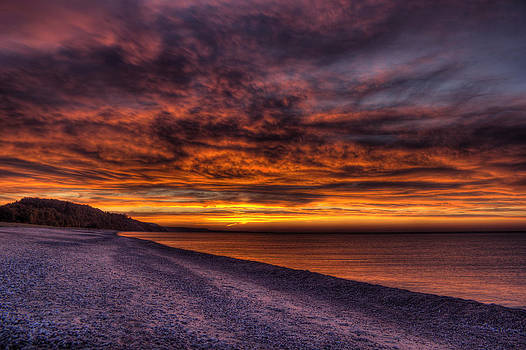 Miner's Beach Sunset by Megan Noble