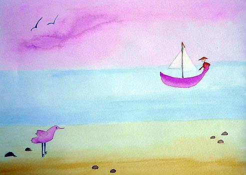 Minimalist seascape by Jo Ann