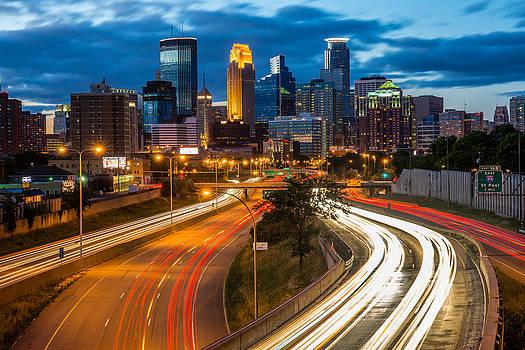 Minneapolis Light Trails by Mark Goodman