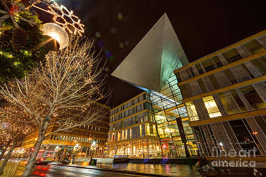 Minneapolis Skyline Photography Central Library by Wayne Moran