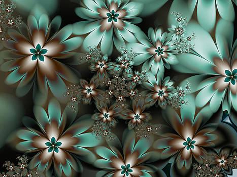Mint Chocolate Flower Fractal by Faye Giblin