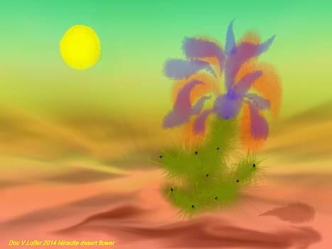 Miracle desert flower by Dr Loifer Vladimir