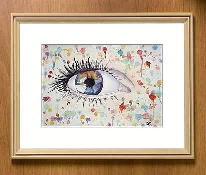 Mirror of the soul - Blue Eye by Olga Sergeeva