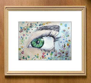 Mirror of the soul - Green Eye by Olga Sergeeva