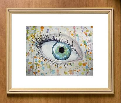 Mirror of the soul - Turquoise Eye by Olga Sergeeva
