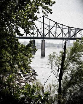 Mississippi River Bridge by Denise Teague