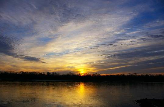 Mississippi River Sunrise by Sean Murray