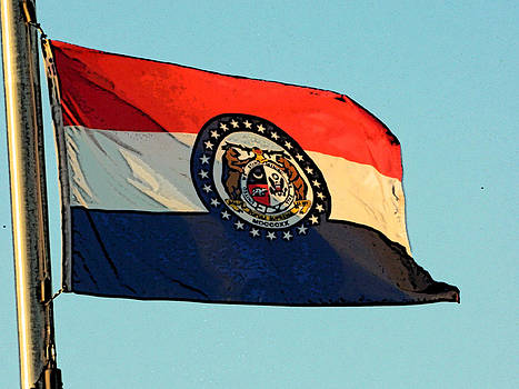 Missouri Flag by Patricia Erwin