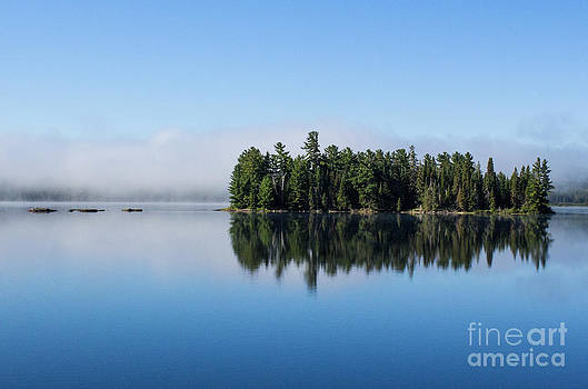 Barbara McMahon - Mist on Lake of Two Rivers