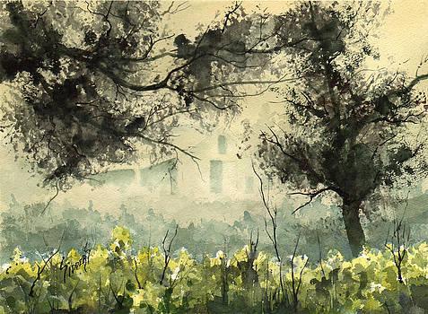 Misty Barn by Sam Sidders