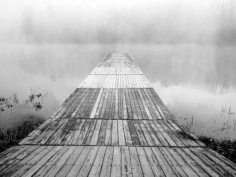 Misty Dock BW by L and D Design Photography