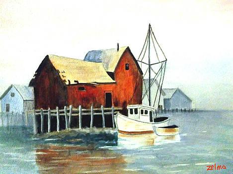 Misty Harbor by Zelma Hensel