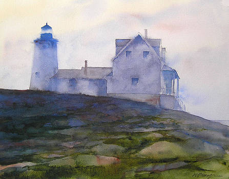 Misty Morning At Pemaquid Lighthouse by William Beaupre