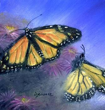 Misty Morning Monarchs by Bonnie Fernandez