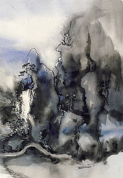Alfred Ng - misty mountain with blue