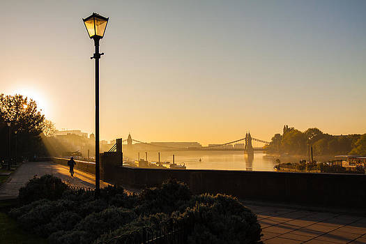 Misty view of the Thames by Matthew Bruce