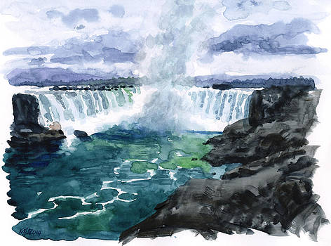 Misty Waterfall by Ken Meyer jr