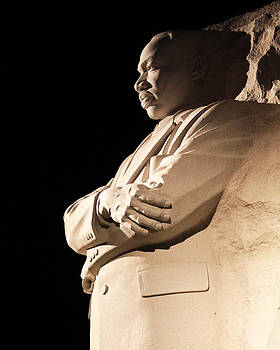 MLK memorial at Night by Brian M Lumley
