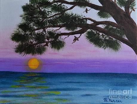 Mobile Bay Sunset by Melvin Turner