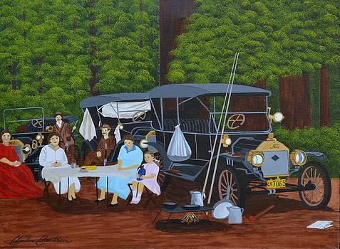 Model T in the Redwoods by Clinton Cheatham