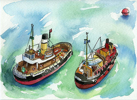 Model Tug Boats by Lydia Irving