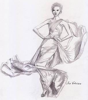 Modeling a dress by Jose Valeriano