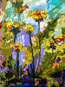 Ginette Callaway - Modern Abstract Dandelion Flowers