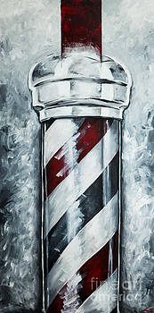 Modern Barber Pole by Chuck Styles