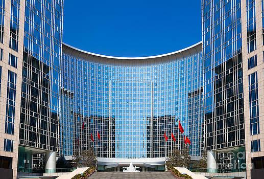 Modern Building in Beijing China by Fototrav Print