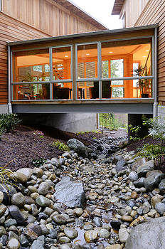 Modern House over Rocky Creek by Will Austin