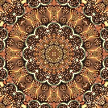 Molten Copper Mandala by Lyle Hatch