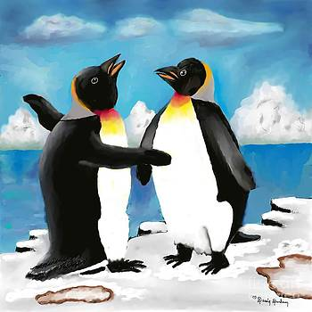 Mom and Dad Penguins by Dessie Durham