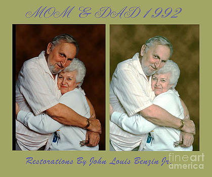 Mom And Dad Portrait Restored by ImagesAsArt Photos And Graphics