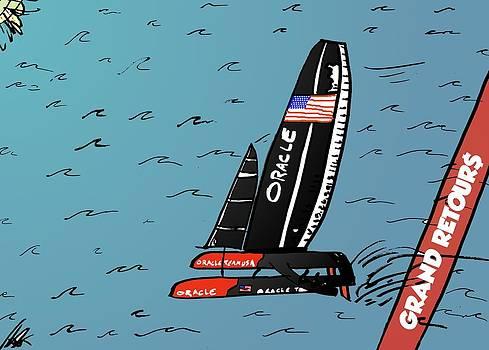 Moment de Victoire de la Coupe de l'Amerique by OptionsClick BlogArt