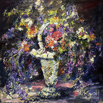 Ginette Callaway - Mona Lavender Flowers from my Garden Still Life