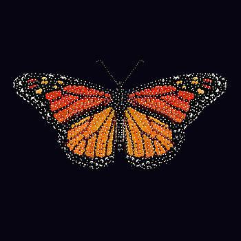 Monarch Butterfly Bedazzled by R  Allen Swezey