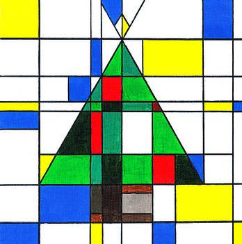 Mondrian Style Christmas Tree by E Gibbons